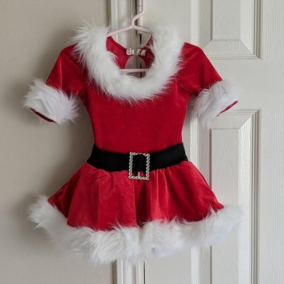 Mrs Claus Christmas Dance Leotard Costume